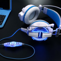 KOTION EACH G7000 7.1 USB Surround Sound Gaming Auscultadores com microfone Stereo Headset Enhanced Bass LED Light para computador PC Game