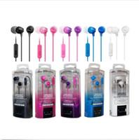 Wholesale Ear Headphones W Mic - New Original MDR-EX15AP 3.5mm In-Ear Headphones Earbuds Headset w Mic Headphone For SONY L39H L36h L35h LT26I Xperia i