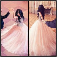 Wholesale Sweetheart Layers Ruffled - Major Beading Quinceanera Dresses 2017 Modest Sweetheart Tulle Layers Ball Gown Sweep Train Vestidos Girls vestidos de 15 anos