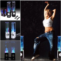 Dancing Water Speaker Active Portable USB LED Light Speaker pour iPhone iPad PC 4 couleurs Subwoofer Water Column Audio