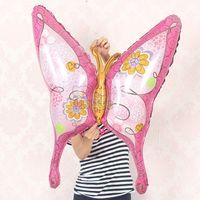 ingrosso decorazione della camera di farfalle-10pcs lotto animali aria gonfiabile forniture da parte camera palloncini farfalla stagnola decorazione del fumetto palloncino bambino / Globos
