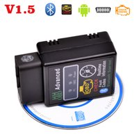 Wholesale Obd2 Trouble Codes Cars - Wholesale- V1.5 OBDII OBD2 ELM327 Bluetooth mini diagnostic tools,Car fault code reader interface detector, code scanner Clear trouble