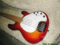 ingrosso migliori chitarre di vendita-China Bass Chit Cherry Burst StingRay 5 Acero basso elettrico Fingerbard La migliore vendita
