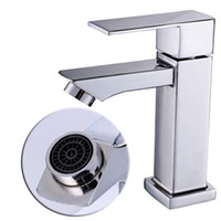 Wholesale Nickel Plated Steel - Bathroom Faucet Mixer Tap Nickel Core Deck Mounted Lavatory Faucets Single Handle One Hole Cold And Hot