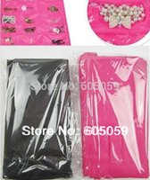Wholesale Dress Hanging Jewelry Organizer - Black Dress Hanging Jewelry organizer Jewelry Packaging Display Hooks storage bag holder better quality lowest price
