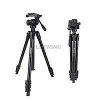 Wholesale Wf Tripods - Weifeng WF-6720E Professional Universal Aluminum Tripod with Fluid Head for Camera