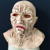Wholesale House Facing - New Halloween Blood Skull Mask Latex Scary wigs haunted house zombies horror decoration Rib muscle devil terror masks Vampire Free Shipping