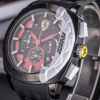 Wholesale Wristwatch Cars - Italy top brand watch F1 Sports car watches calendar three eyes men sports Men's Watches Relogio fashion Casual luxury Watch AAA wristwatch