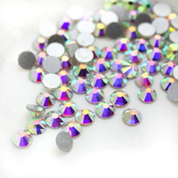 Wholesale Wholesale Diamond Shaped Beads - 2017 hot quality excellent A drill flat bottom diamond beautifully nail mobile phone beauty round flat bottom beads beads wholesale