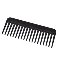 Wholesale Wide Tooth Comb Wholesale - 19 Teeth Black High Quality ABS Plastic Heat-resistant Large Wide Tooth Comb Detangling Wide Teeth Hairdressing Comb