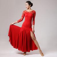 vestidos de competição de dança de salão venda por atacado-2018 dança de salão de dança vestidos de dança ballroom valsa vestidos para dança de salão waltz foxtrot dança espanhola dress flamenco