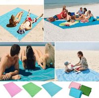 Wholesale Large Beach Mats Wholesale - Sand Free Mat 200*200cm Outdoor Picnic Camping Magic Mat Large Mattress Waterproof Bags Beach Pads Cushion OOA2039
