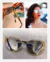 Wholesale Metal Wrap Snake - new fashion women sunglasses JC DOMI cat eye frame snake skin frame metal sunglasses fashion show italian design summer style top quality