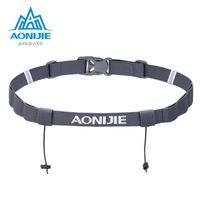 Wholesale Running Numbers - AONIJIE Unisex Triathlon Marathon Race Number Belt With Gel Holder Running Belt Cloth Belt Motor Running Outdoor sports