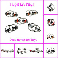 Wholesale Fidget Spinners Key Ring metal gyro toy fidget toys Professional EDC stress release toy Hand Spinner fidget key chain Different Colors