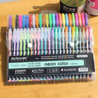 Wholesale Cheap Gel Pens - 48pcs HOT Gel Pens or Gel Refills Rollerball Pastel Neon Glitter Pen Drawing Color Pen Cheap price nice student Study Gift