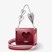 Wholesale Two Hearts Vintage - 2017 New Designer Vintage Women Shoulder Bag Handbag heart-shaped Ladies Messenger Bag Autumn Winter Style no209