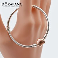 Wholesale Dazzling Party Bracelets - DORAPANG Fits Pandora Bracelets Rose Gold Plate Dazzling Daisy Charm Beads 925 Sterling Silver Pave CZ Flower Beads DIY Fine Jewelry 8026