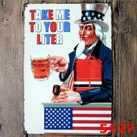 Uncle Sam Metall Malerei Blechschild Jahrgang Zinn Platte Cafe Bar Pub Garage KTV Wanddekoration Retro Home Decor Kunst Poster Bier Zimmer