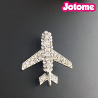 ingrosso spille aerei-Argento Tone Flight Attendant Uniform Novelty Airplane Strass Moda Spille Pin