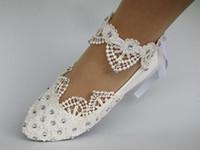 marfim vestido branco sapatos venda por atacado-Frete Grátis Nova Moda Branco luz marfim rendas cristal liso vestido de Casamento ballet sapatos tamanho 5-9.5