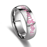 Wholesale Breast Cancer Awareness Jewelry - Wholesale- eejart Women's Ring of Support Breast Cancer Awareness Pink Rings for Women Female Organization Jewelry Wholesale