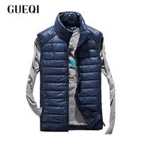 Wholesale Short Gilet - Wholesale- GUEQI Brand Men's Ultra Light Fashion Vests Men Casual Waistcoat Thin Outwear Gilet Homme Colete Masculino Chaleco Hombre 13409