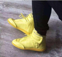 Wholesale Lemon Lights - Latest Popular Lemon Color Sneakers Shoes Maison Martin Margiela and Black Grain Margiel Mens Shoes Large Size 39-46