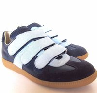 Wholesale Genuine Leather Outwears - Shop New 3 Strap Maison Martin Margiela Fashion Outwear Shoes For Mens Customize Casual Plus Size