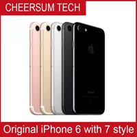 Wholesale Iphone Camera Housing - With fingerprint 2017 iphone 6 in 7 style Mobilephone 4.7 5.5 inch 16GB 64GB 128GB iphone 6 refurbished in iphone 7 housing Cellphone