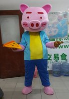Wholesale Pig Chef - Factory direct sale Lovely Chef pig cartoon doll Mascot Costume Free shipping