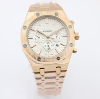 Wholesale Men Luxury Watch Offshore - New Royal Oak Offshore Rose Gold Automatic Mechanical Mens Watch Glass Back Stainless Steel Men Watches