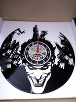 Super Cool Heiß Vinyl Record Konzept Wanduhr Batman Thema CD Vinyl Uhren Horloge Murale Dekoratives Modernes Design