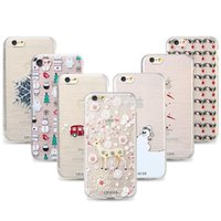 Wholesale Iphone Winter Cover - Phone Case For iPhone 7 6s 6 Plus 5 SE Cases Soft TPU Ultra-thin Christmas Winter Cover For iPhone Silicone Shell Capa