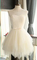 Summer Short Homecoming Dresses Light Champagne Cheap Soft Tulle Summer Party Dresses Реальные фотографии На заказ