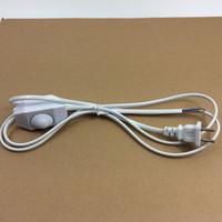 clavija china al por mayor-1500mm Chino 2 Pines Enchufe VDE Cable de Alimentación H03VVH2-F Doble Aislamiento con Traic Dimmer Perilla Interruptor Forma para Iluminación LED Regulable
