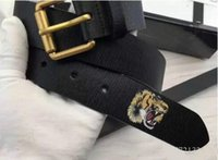 Wholesale Mens Faux - New Black color Luxury High Quality Designer Belts Fashion Tiger animal pattern buckle belt mens womens belt ceinture G optional attribute