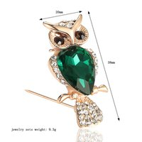 Wholesale Europe Owl - Europe and the United States selling new alloy brooch inlaid animals Owl high - end pin cross - border electric business hot explosion