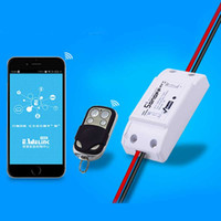 Wholesale Wireless Sensor 433mhz - Wholesale-ITEAD Sonoff RF- 433Mhz WiFi Wireless Smart Switch With RF Receiver Remote Controller Sensor For Smart Home WiFi Light Switch
