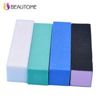 Wholesale Buff Color - Wholesale- 10 Pcs Lot 4 Color Available Nail Art Buffing File Block Pedicure Manicure Buffing Sanding Polish White Nail File Nail Art Tips