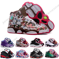 Wholesale Cheap Womens Designer Shoes - Cheap New Retro 13 XIII Womens Basketball Shoes sneakers women brand dan sports running shoes girls designer shoes drop free shipping 36-40