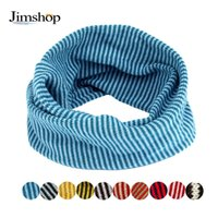 Wholesale Fast Knit Scarf - Wholesale- Jimshop 2016 New Autum Winter Kid Scarf Colors Stitching O-ring Knit Woolen Baby Scarf Neck Warmer Fast Shipping