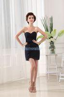 Wholesale Mini Silk Ribbon Brooch - free shipping 2018 new design vestidos formal dress formales maid black short party gowns sweetheart custom Bridesmaid Dresses