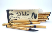 Wholesale Eyeliner Tubes - hot sale NEW makeup KYLIE gold birthay edition tube liquid eyeliner pencil lasting blooming gold box Long-Lasting free shipping DHL