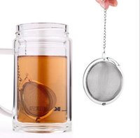 Wholesale Tea Mesh Strainer Ball Wholesale - Tea Infuser Stainless Steel Tea Pot Infuser Sphere Mesh Tea Strainer Ball Good Quality 4.5cm