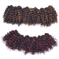 "Wholesale Mixed Synthetic Hair Weave - Kanekalon Fiber Jerry Curl 8"" Synthetic Hair Extensions 3pcs set Havana Twist Crochet Jumbo Braiding Hair Weaving Curlystyle Mix Color"