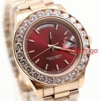 Wholesale Mens Watches Automatic Perpetual - President Day Date 18K Gold Perpetual fashion mens watch Big diamond Bezel Gold Stainless steel original strap Automatic men Watches #698.
