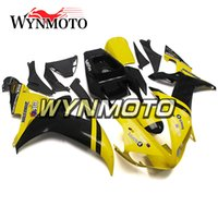 Carenados completos para Yamaha YZF R1 2002 2003 Inyección de ABS Carenados de moto Kit de careta completa de moto Mototbike Yellow Black Bodywork
