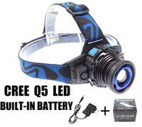 led-scheinwerfer großhandel-CREE XML Q5 LED Scheinwerfer Scheinwerfer Kopf Lampe Licht Fokus Für Angeln Fahrrad Camping Wandern Freies Epacket