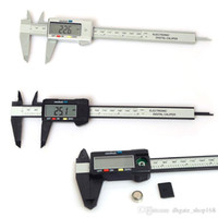 Wholesale Digital Lcd Caliper Vernier Gauge - 150mm 6inch LCD Digital Electronic Carbon Fiber Vernier Caliper Gauge Micrometer Plastic Caliper